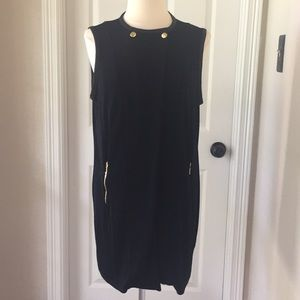 Chico's Travelers Long Black Vest Sz 2 Large